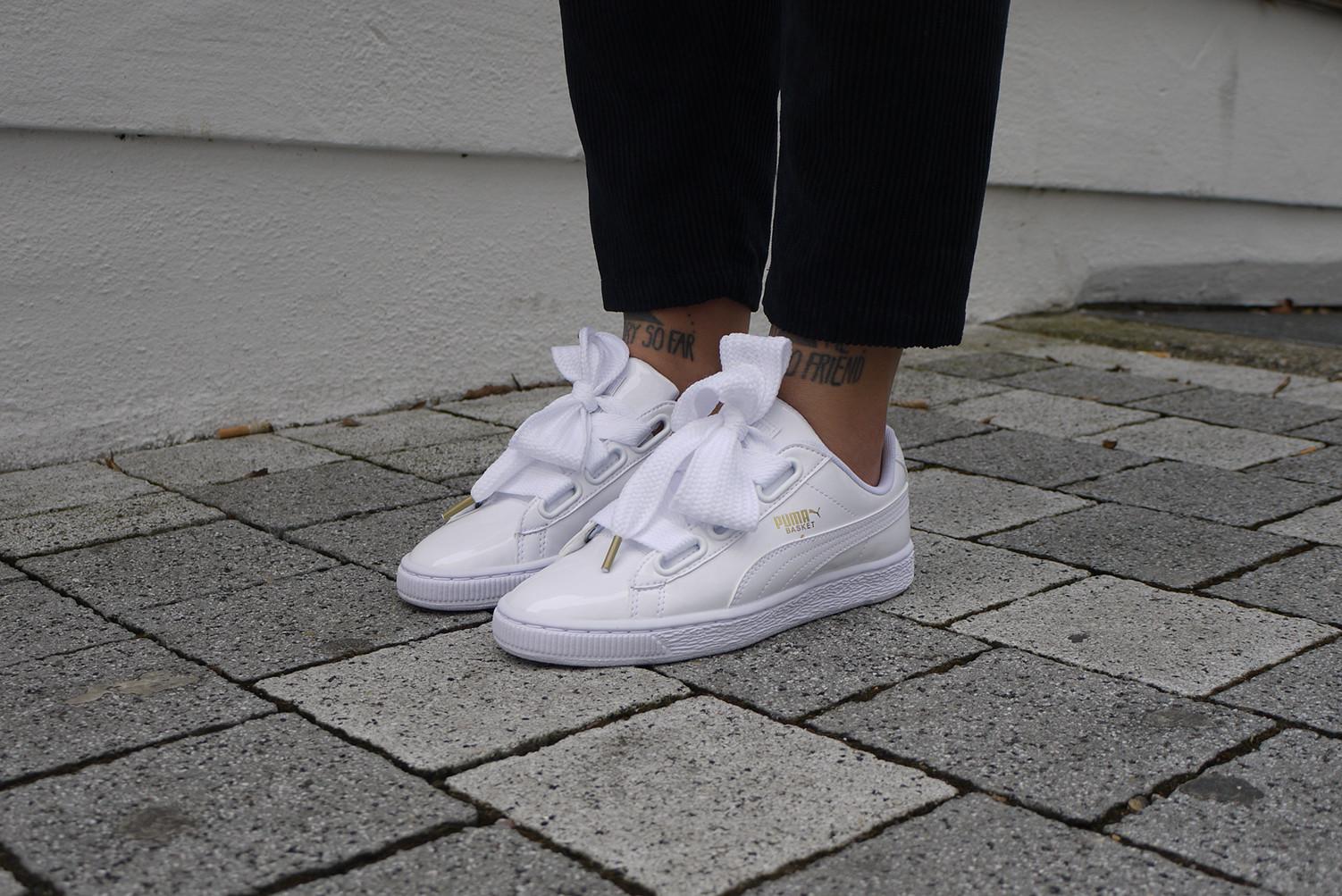 Mode Puma White Sneaker (Basket Heart Patent) auffällige
